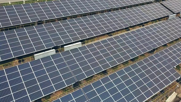 Thumbnail for Solar Panels in Aerial View