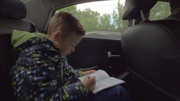 Thumbnail for Child Solving Logic Chess Puzzles in the Car