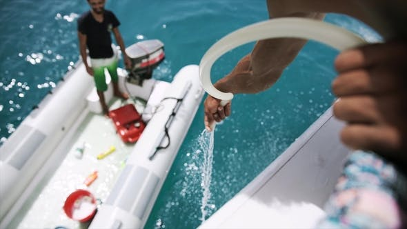 Thumbnail for Men Cleaning the Yacht
