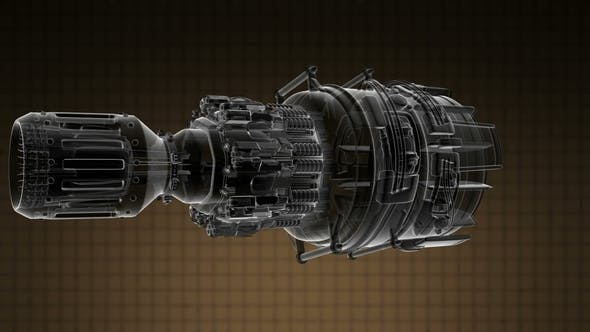 Thumbnail for Rotate Jet Engine Turbine