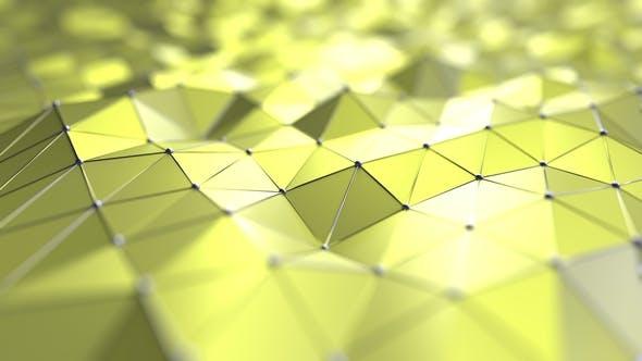 Arrière-plan polygonale jaune