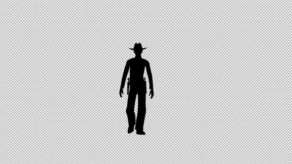 Thumbnail for Cowboy Walk Silhouette