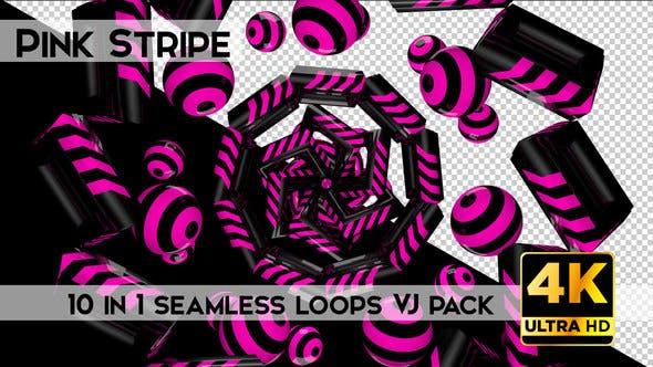 Thumbnail for Pink Stripe Vj Loops Pack
