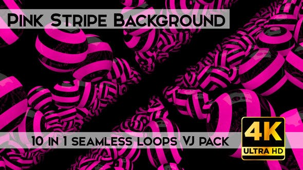 Thumbnail for Pink Stripe Background Vj Loops Pack