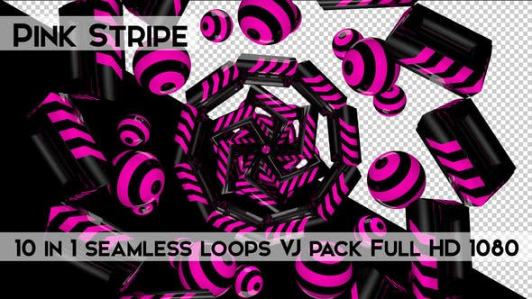 Thumbnail for Pink Stripe Vj Loops Pack