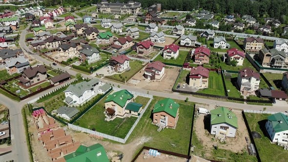 Thumbnail for Top View of Modern Cottage Village Near Moscow, Russia