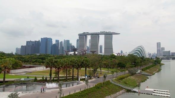 Thumbnail for Singapore Marina Bay Sands Gardens Sunset