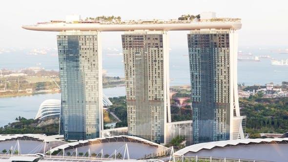 Thumbnail for Singapore Marina Bay Sands Sunset