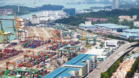 Thumbnail for Container Cranes in Port Terminal Singapore