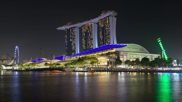 Thumbnail for Night View of Singapore with Marina Bay Sands