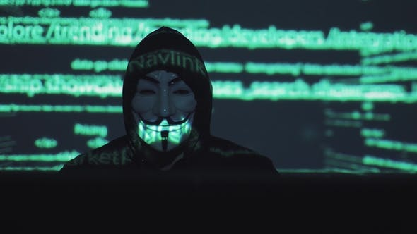Thumbnail for Concept of Computer Security and Security in the Network. Robber in the Mask at the Computer