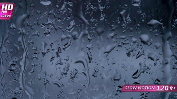 Thumbnail for Window Glass with Raindrops