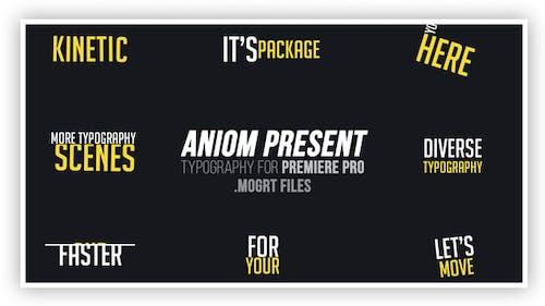 Kinetic Typography Suite   MOGRT