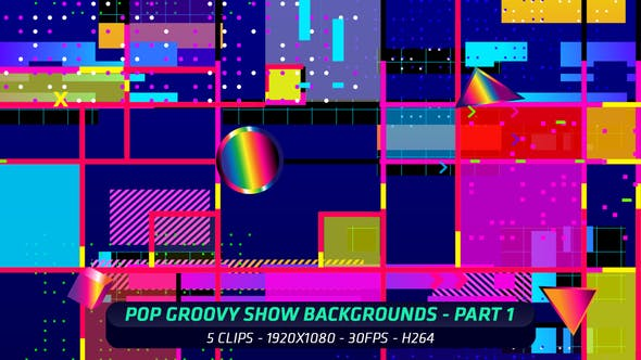 Thumbnail for Pop Groovy Show Backgrounds - Part 1