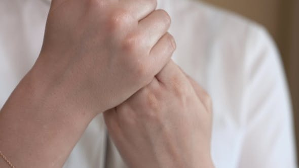 Thumbnail for of a Woman Hands Applying a Hand Lotion.