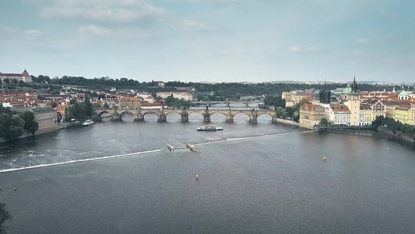Thumbnail for Charles Bridge Across the Vltava River in Prague