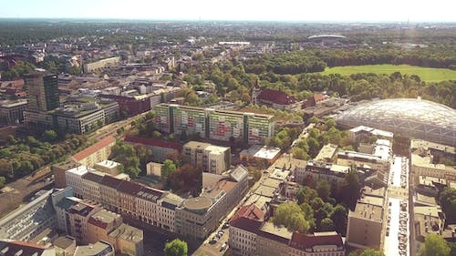 Leipzig Townscape Involving Glass Roof of the City Zoo