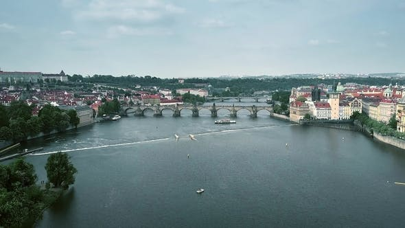 Thumbnail for Crowded Famous Charles Bridge in Prague