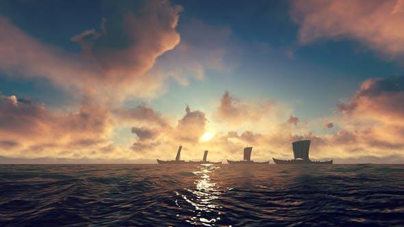 Thumbnail for Viking Ships Sailing