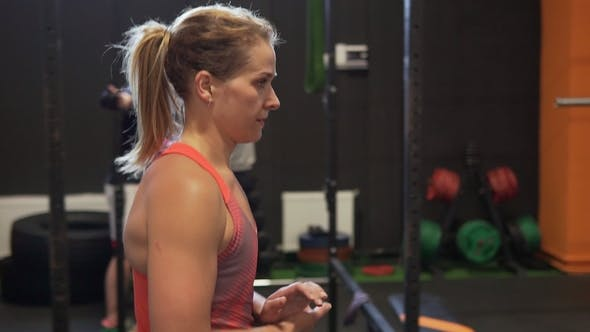 Thumbnail for Strong Muscular Fitness Woman Walking in Gym