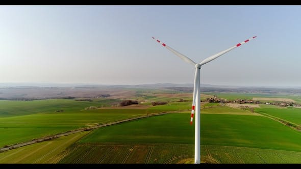 Thumbnail for Aerial View of Windmills Farm. Power Energy Production