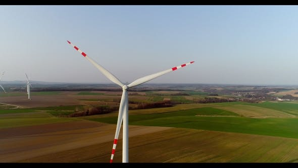 Thumbnail for Aerial Wiev of Windmills Farm. Power Energy Production