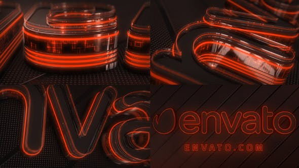 Thumbnail for Neon Logo Reveal Element 3D