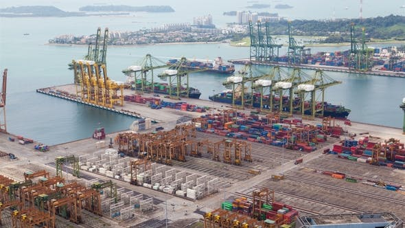 Traffic of Vessels To the Container Terminal Singapore