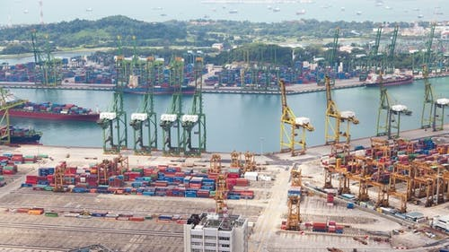 Mooring in Container Terminal Singapore