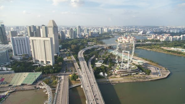 Thumbnail for Singapore Cityscape Highway Traffic