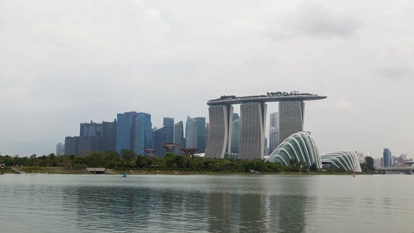 Thumbnail for Singapore Cityview with Gardens By the Bay Cloudiness