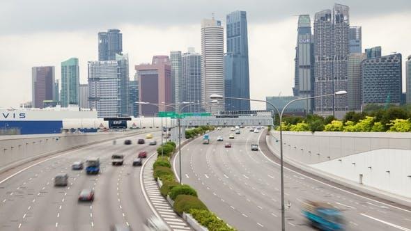 Thumbnail for Singapore Marina Coastal Expressway Traffic