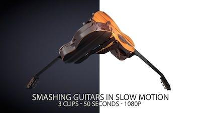 Breaking Guitars in Slow Motion