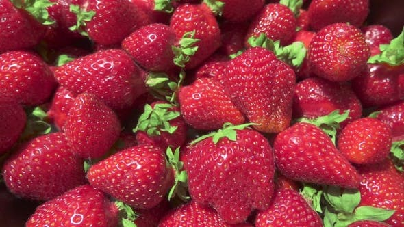 Thumbnail for Strawberry in a Metal Container on a Table