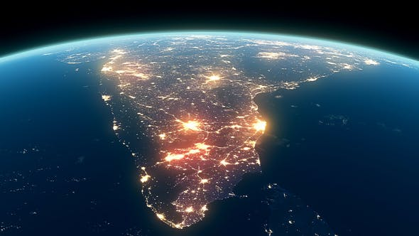 Cover Image for 4K Earth Night Close Up High Detail India