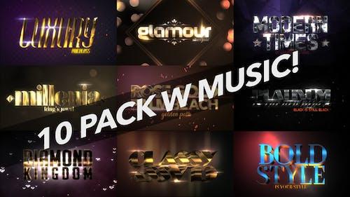 4K Luxury 10 Logo Text Intro Pack