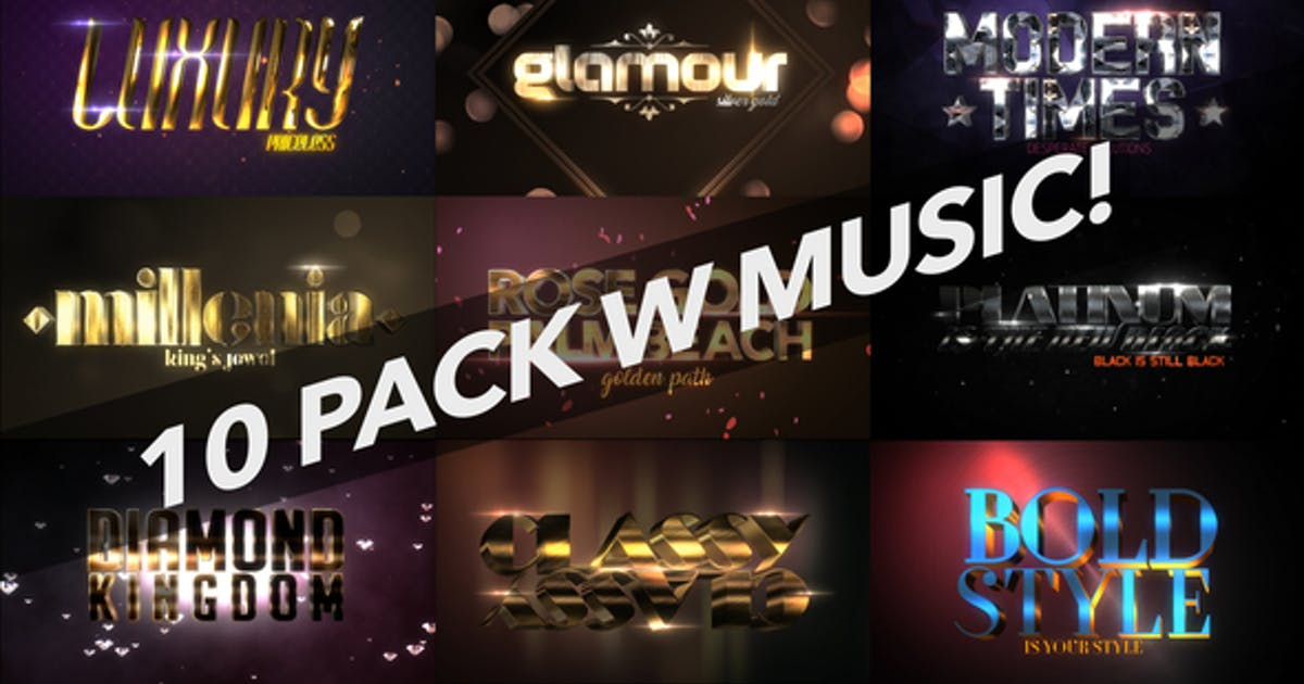 Download 4K Luxury 10 Logo Text Intro Pack by iconoclast