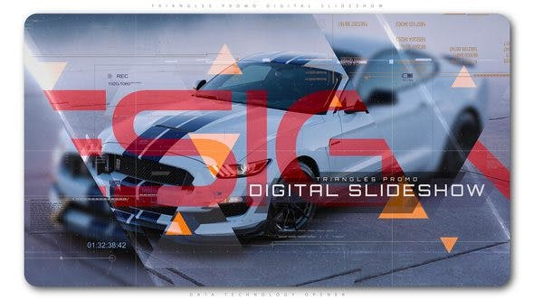 Thumbnail for Triangles Promo Digital Slideshow