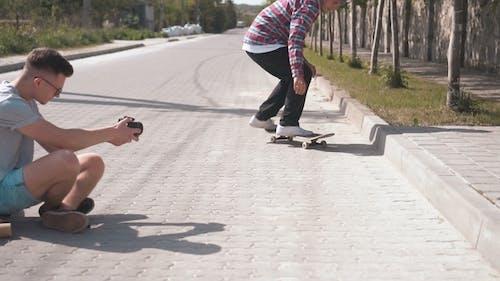 Drehen Skateboard Tricks
