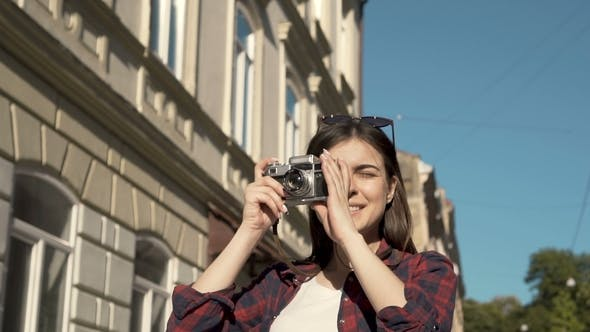 Thumbnail for Girl Takes Pictures with Camera