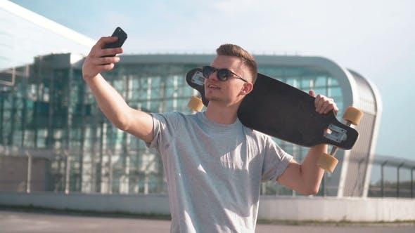 Thumbnail for Skater Takes Selfie