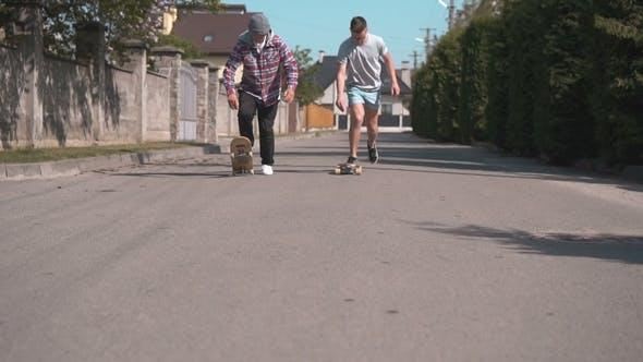 Thumbnail for Skateboarders on the Street