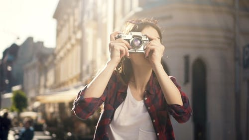 Fotografie mit Retro-Kamera