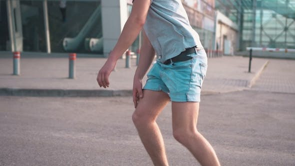 Thumbnail for Skater Rides on Road