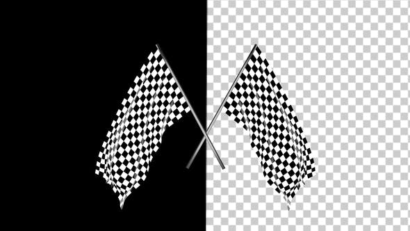 Thumbnail for Checkered Race Flag Waving with an Alpha Channel