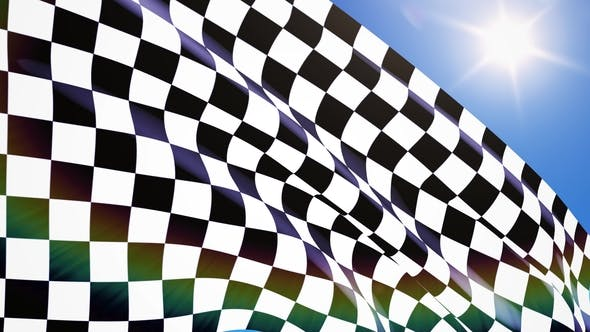 Thumbnail for Checkered Race Flag Waving