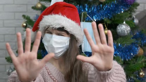 Sad New Year Party in Mask