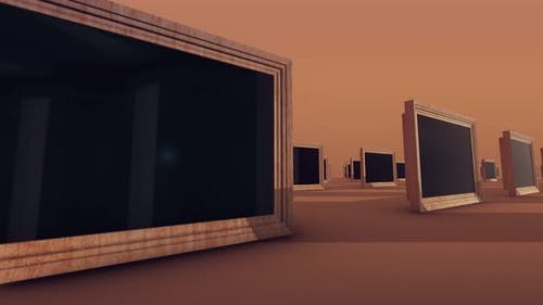 A Lot Of Tinted Wooden Windows 4k