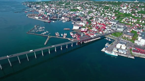 Thumbnail for Bridge of City Tromso, Norway