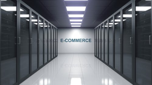 E-COMMERCE Caption in a Server Room